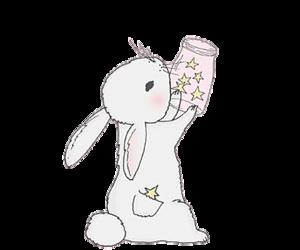 bunny, sweet, and heart image
