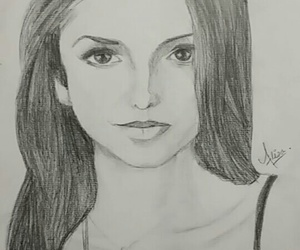 art, drawing, and Nina Dobrev image