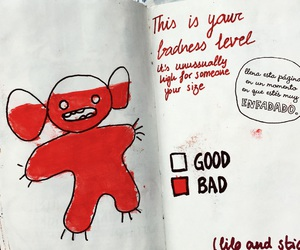 bad, drawing, and red image