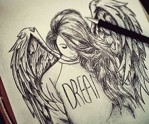 Dream, angel, and drawing image