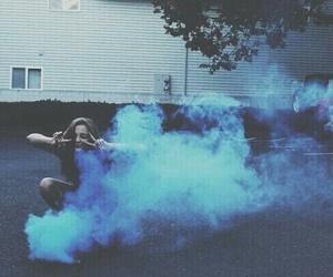 girl, blue, and grunge image