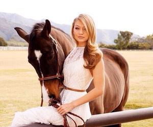 gigi hadid, horse, and model image