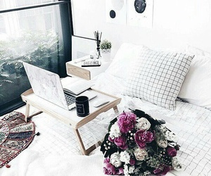 flowers and bedroom image