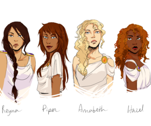 piper, Reyna, and annabeth image
