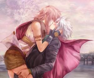 blush, boy and girl, and final fantasy image