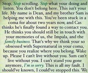 dean winchester, sam winchester, and sorry image