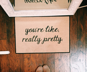 pretty, quotes, and home image