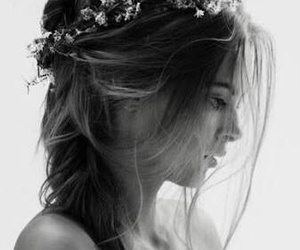 bride, flowers, and girls image