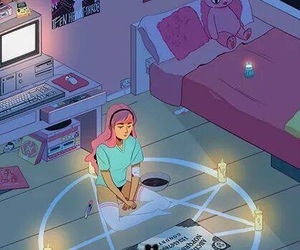ouija, pink, and room image