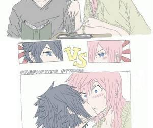 kiss, anime, and food image