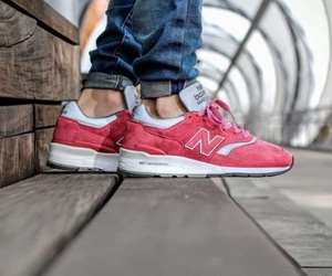 new balance, pink, and sneakers image
