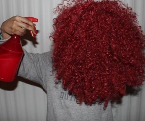 curly, girl, and red image