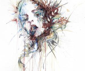 art, watercolor, and carne griffiths image