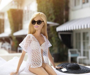 barbie, doll, and sun image