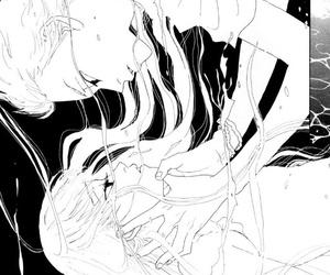 anime girl, hold, and manga image