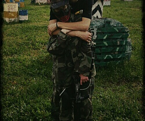 couple, inlove, and paintball image