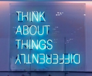 neon, blue, and tumblr image