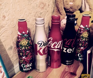 bottles, coca, and cocacola image