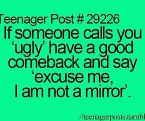 funny, mirror, and teenager post image