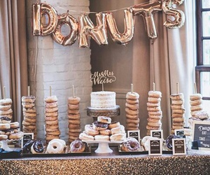 buffet, donuts, and wedding image