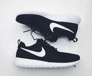 black, nike, and black and white image
