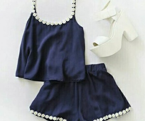 fashion, outfit, and blue image