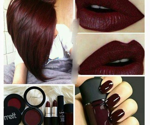 color inspiration, dark makeup, and perfection image