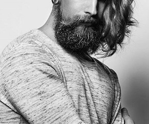 beard, hipster, and men image