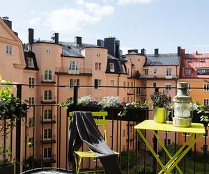 balcony, cosy, and summer image