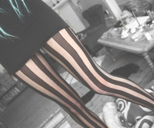 tights, blue hair, and legs image