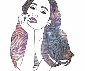 outline, ariana grande, and art image