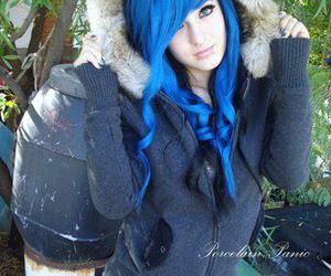 beautiful, blue hair, and scene queen image