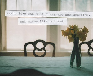 memories, sad, and flowers image