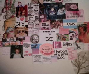 cluttered, Collage, and text image