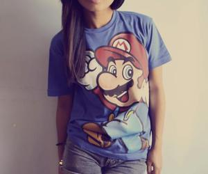 girl, mario, and swag image