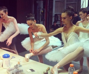 backstage, ballerinas, and ballet image