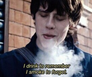 drink, quote, and smoke image