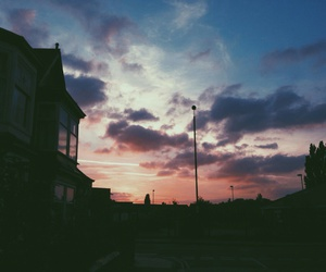 sunset, grunge, and hipster image