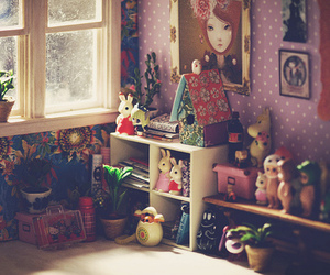 cute, room, and vintage image