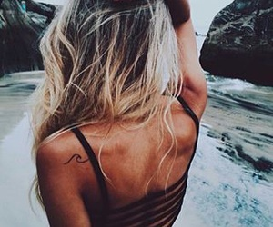 beach, ocean, and warm image