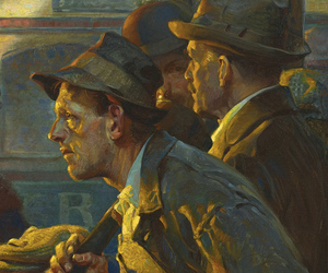 Oil Painting, Norman Rockwell, and painting image