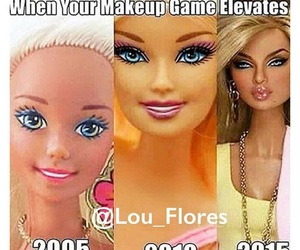 barbie, funny, and makeup image