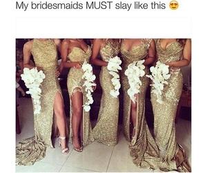 bridesmaid, wedding, and dress image