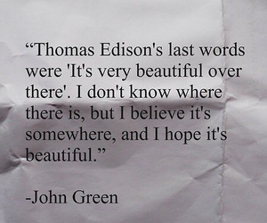 john green, last words, and looking for alaska image