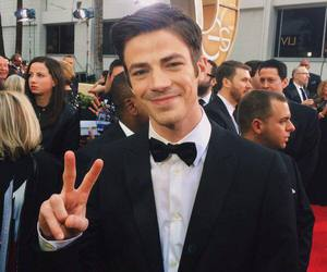 grant gustin, the flash, and golden globes image