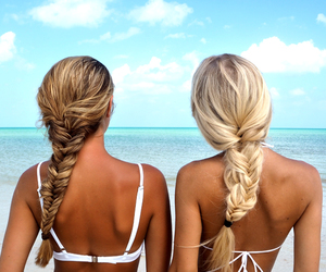 beach, best friends, and girly image