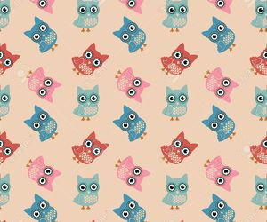 art, owl, and pattern image