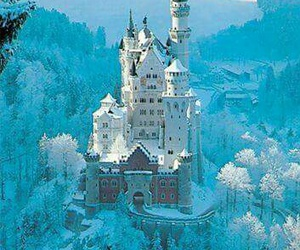 castle, snow, and germany image