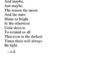 light, moon, and poem image