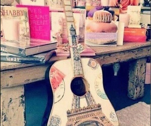 drawing, guitar, and music image